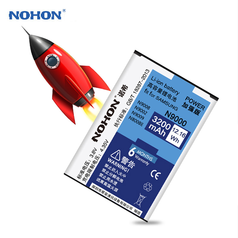 Original NOHON Battery For Samsung Galaxy Note 3 Note3 N9000 N9006 N9005 N9009 No NFC 3200mAh High Capacity Replacement Battery Ireland free