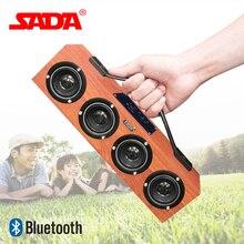 Сада A1 Портативный ручной деревянный Беспроводной Bluetooth Динамик сабвуфер surround стерео USB древесины Динамик карты памяти У диска AUX