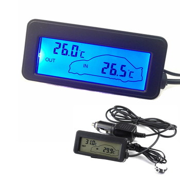 12V Car Thermometer Indoor Outdoor Vehicle Celsius Temperature Meter Monitor with 1.5 Cable Sensor