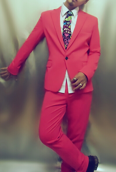 roter, grüner, blauer Anzug (Jacke + Hose) Neon Blazer Set - Herrenbekleidung - Foto 4