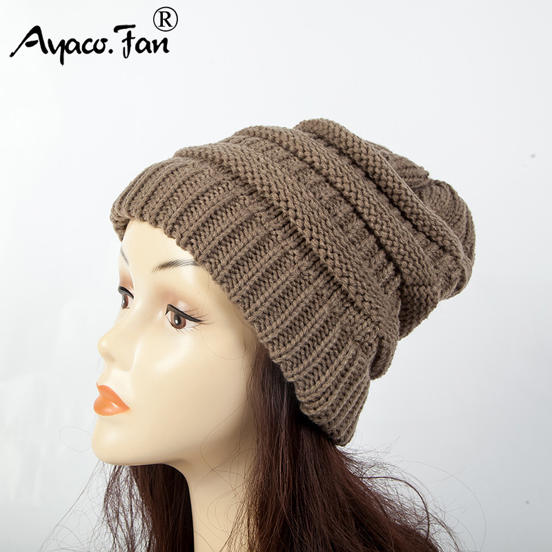 Outdoor Knit Cap Ponytail   Beanie   Winter Hats for Women Crochet   Skullies     Beanies   Warm Caps Female Knitted Stylish Hat New Autumn
