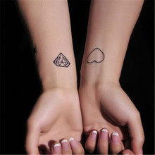 2017 NEW waterproof temporary tattoo stickers hand made Stationery Sticker adesivos handmade sticker Diamond and heart