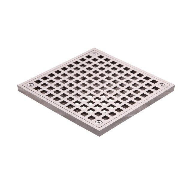 15x15 cm ext rieure carr en laiton grille gouttoir siphon de sol des d chets grille nickel - Syphon de sol ...