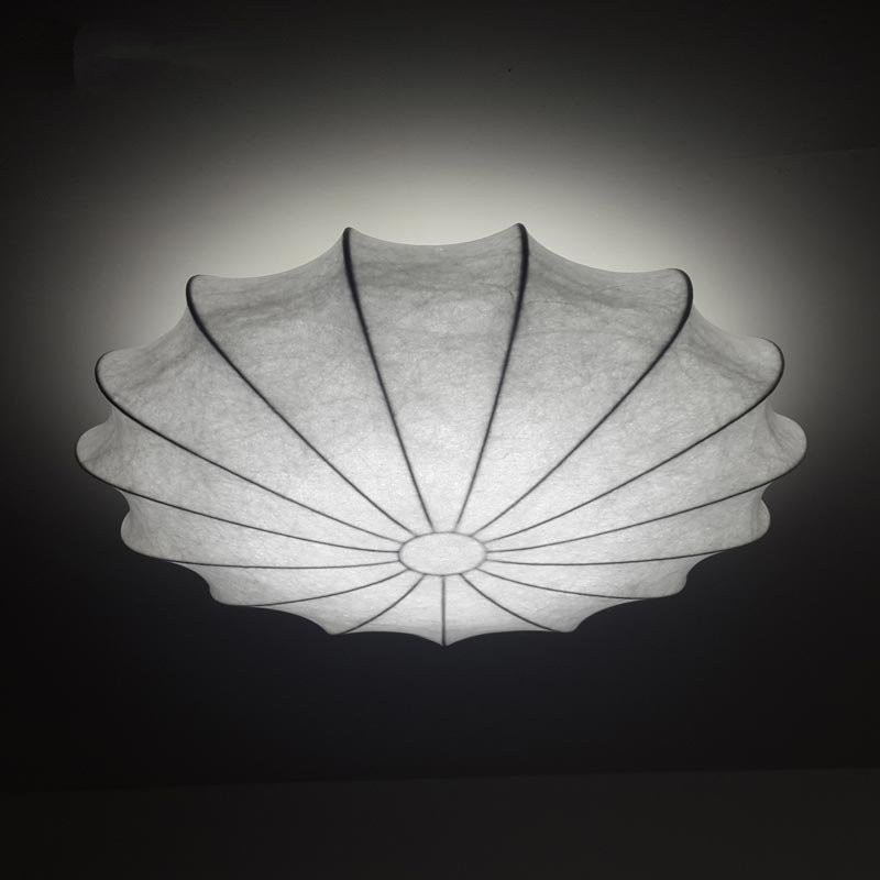 Style chinois simple rond plafonniers rétro créativité salon plafonniers polymère matériel LED soie étude lampe de poche