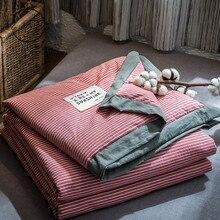 Полосатое клетчатое тонкое летнее одеяло, одеяла, мягкое одеяло, лоскутное одеяло, покрывало для кровати, одеяло для взрослых, детей, Colcha, домашний текстиль