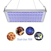 Plant Lamp LED Aquariums 75w Grow Light Blue White 91:78 for Plant Germination Aquarium Fish Tank