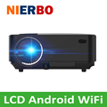 Мини СВЕТОДИОДНЫЙ Проектор Android 4.4 Tv box Full HD WI-FI Bluetooth 4.0 Поддержка Miracast DLAN Airplay EZCast Многоязычный Проектор