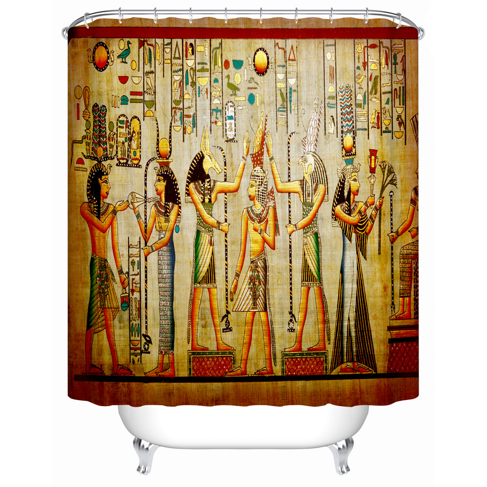 Ancient egyptian table - Charmhome Accept Custom Image Bathroom Curtain Ancient Egyptian Life A Diagram Showing Practical Furniture Shower Curtain