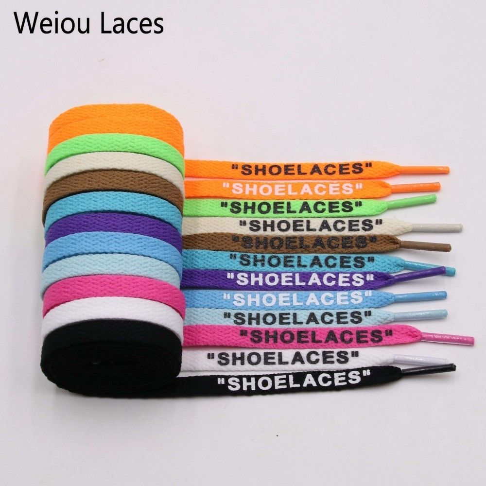 Weiou New 8mm Flat Laces Handmade Printing