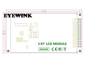 Image 5 - 4 Inch TFT LCD Màn Hình Cảm Ứng Mô Đun IPS Full Xem Ultra HD 800X480 Với Tấm Nền