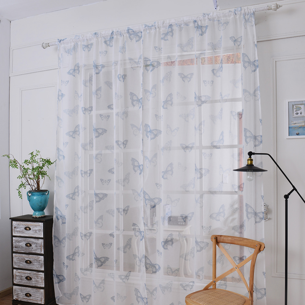 Sheer curtains with patterns - New Style 1 Pcs 145 180 Cm Window Curtains Sheer Voile Tulle For Bedroom Living