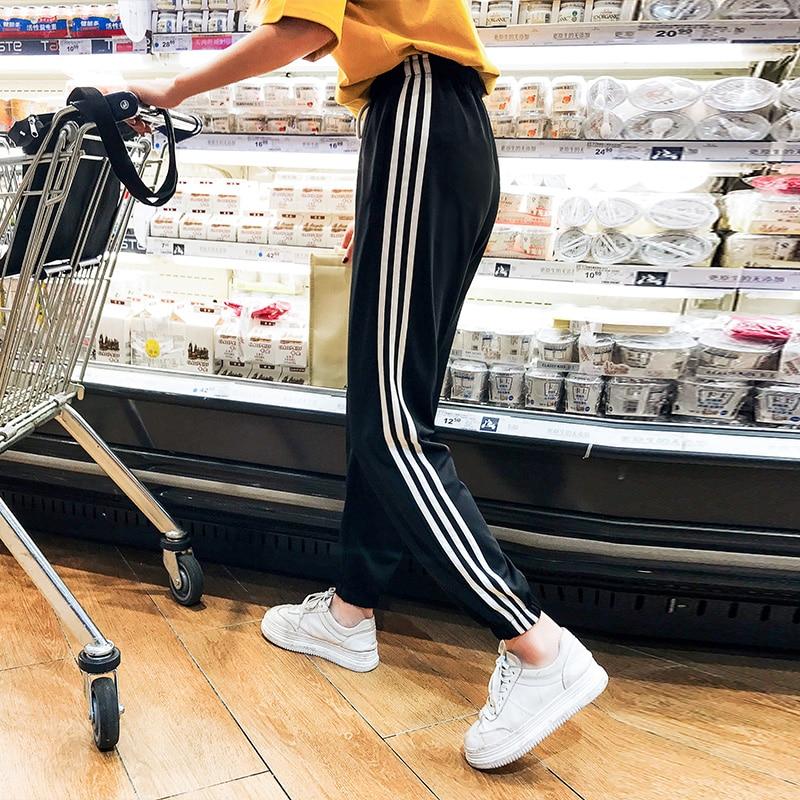 Korean Summer   Wide     Leg     Pants   Women Casual High Waist   Pants   with Bow Belt lounge wear New   Pant   Trousers Femme tracksuit women