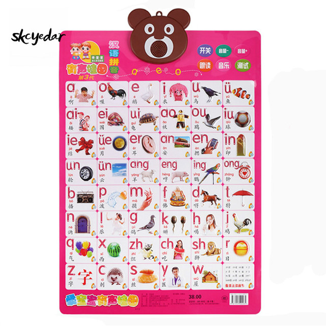 embossed pvc high quality early education audio wall charts for kids study chinese  also rh aliexpress