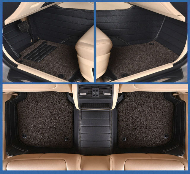 Myfmat New Floor Mats Car Rugs Leather Pad Double Layer For ROVER 75 MG TF