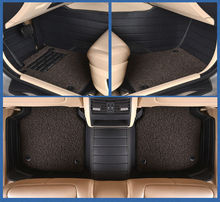 Auto tapetes alfombras de coche de cuero conjunto almohadilla de doble capa para ROVER 75 MG MG TF 3/6/7/5 Maserati Quattroporte Spyder Coupe Maybach