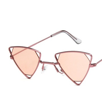 Yoovos 2019 New Punk Sunglasses Women Triangle Oculos New Vintage Glasses Openwork Metal Frame Fashion Sun Glasses Men Okulary 10