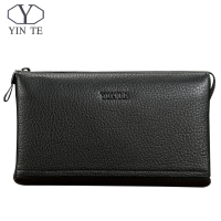 YINTE Genuine Leather Men's Clutch Bags For Men Wallet Wristlets For Men Casual Holder Bag Portfolio T8372 2A