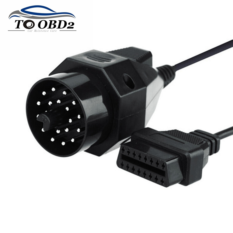 Automotive Car Diagnostic Cable For BMW 20Pin To 16Pin Female Adapter OBD OBD2 Cable 20 Pin To 16 Pin For BMW Vehicles