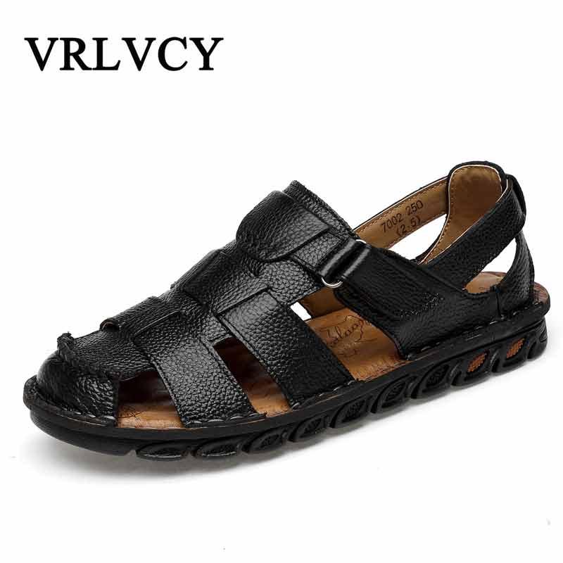 2018 Männer Sandalen Im Freien Sommer Strand Sandalen Männer Verschluss Schuhe Elastisch Comfort Rutschfeste Gladiator Männer Freizeitschuhe