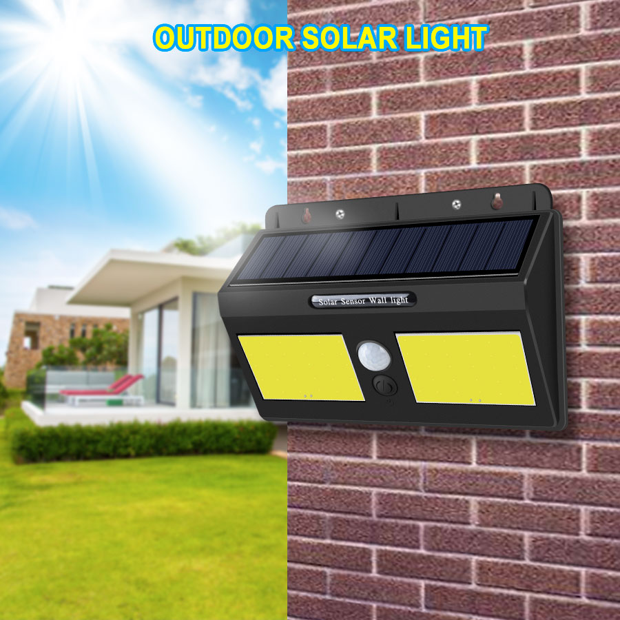 1200 mAh Solar LED Lamps With PIR Motion Sensor 20 40 LEDs High Power COB LED Solar Light Outdoor Wall Garden Path Way Lighting1200 mAh Solar LED Lamps With PIR Motion Sensor 20 40 LEDs High Power COB LED Solar Light Outdoor Wall Garden Path Way Lighting
