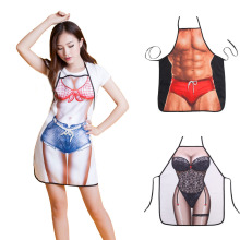 Waterproof Multicolor Sexy Women Kitchen Apron Funny Men Apron BBQ Fashion Apron Sleeveless Waiter Aprons delantal cocina