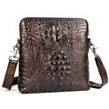 2015 retro Crocodile pattern genuine leather small messenger bags for men real leather men's shoulder bags cowhide male handbags
