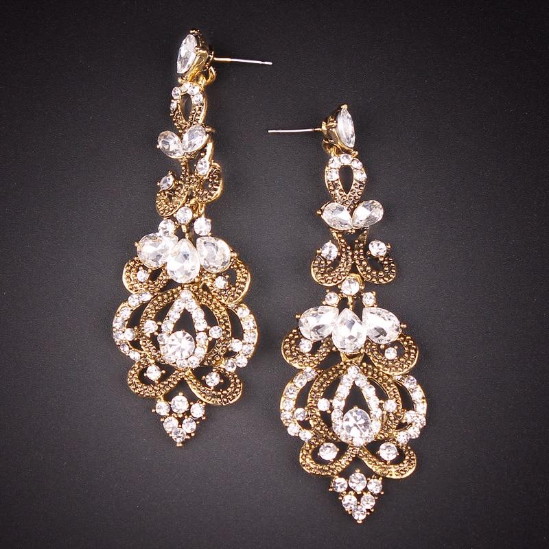 Style 123020 Diamontrigue Jewelry: New Fashion Indian Style Earrings Statement Long Dangle
