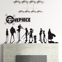 DIY vinyl ONE PIECE cartoon bedroom Decorative wall stickers