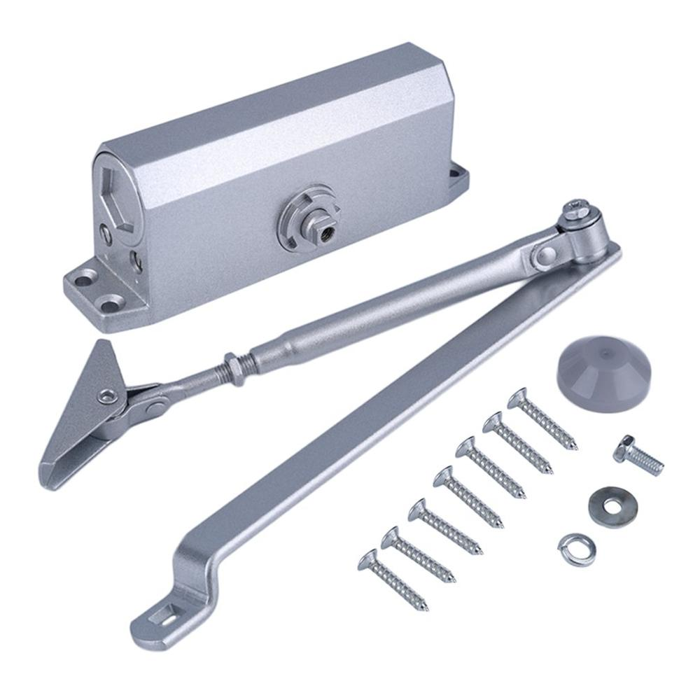 068 Home Office Adjustable Overhead Left Or Right Hand Cast Aluminium Square Door Closer For Residential Commercial Use
