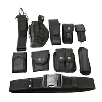 10 In 1 Tactical Security Police Guard Utility Kit Duty Belt With 9 Pouches System Military