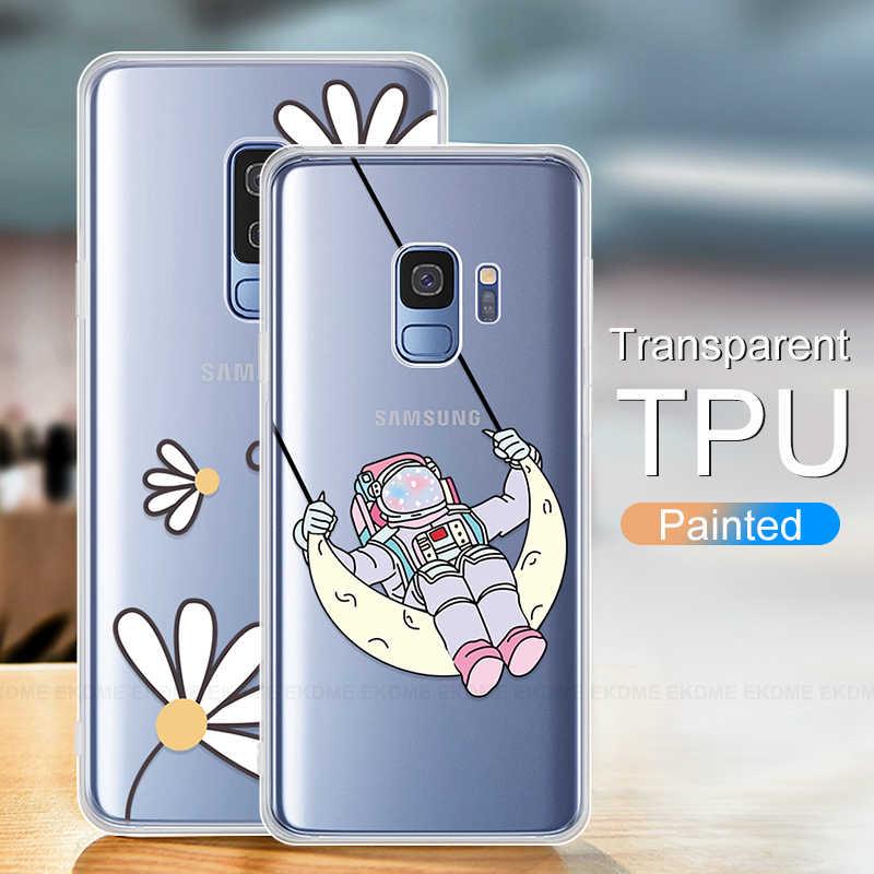 Чехол с изображением кота и листьев для samsung Galaxy A30 A40 A40S A50, мягкий силиконовый чехол для телефона Galaxy A10 A20 A20E A60 A70