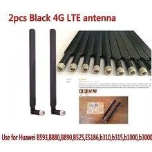 Black 2 PCS B593 5dBi SMA Male 4G LTE Router Antenna  black 2 pcs b315 b310 b593 b525 b880 b890 e5186 5dbi sma male 4g lte router antenna