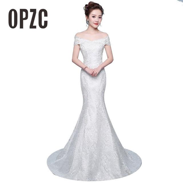 משלוח חינם חדש מכירה לוהטת אלגנטית יפה תחרה פרחי בת ים שמלות כלה Vestidos דה noiva robe de mariage כלה שמלה