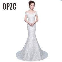 Darmowa wysyłka nowa gorąca sprzedaż eleganckie piękne koronkowe kwiaty suknie ślubne syrenka vestidos de noiva szata de mariage suknia ślubna