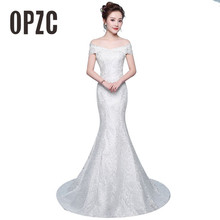 Free Shipping New Hot sale Elegant beautiful lace flowers mermaid Wedding Dresses vestidos de noiva robe de mariage bridal dress
