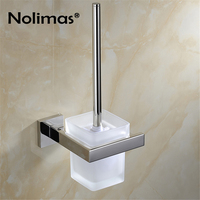 SUS 304 Stainless Steel Toilet Brush Holders Bathroom Mirror Polished Effect Toilet Brush Cup Holder Rack