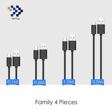 4 Pack WMZ Micro USB Cable Fast Charging Cables 0.1M/0.5M/1M/2M for Samsung Galaxy S7 Edge Xiaomi Redmi 4X LG G4 V10