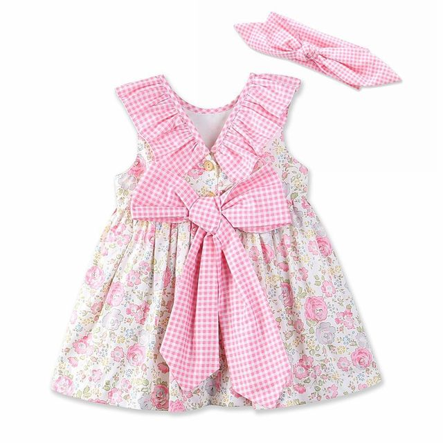3e1c4eb15ef4c US $6.99  Clothing child dress pure cotton print Girl Dress Bow princess  lovely pastoral dress baby girl clothes-in Dresses from Mother & Kids on ...
