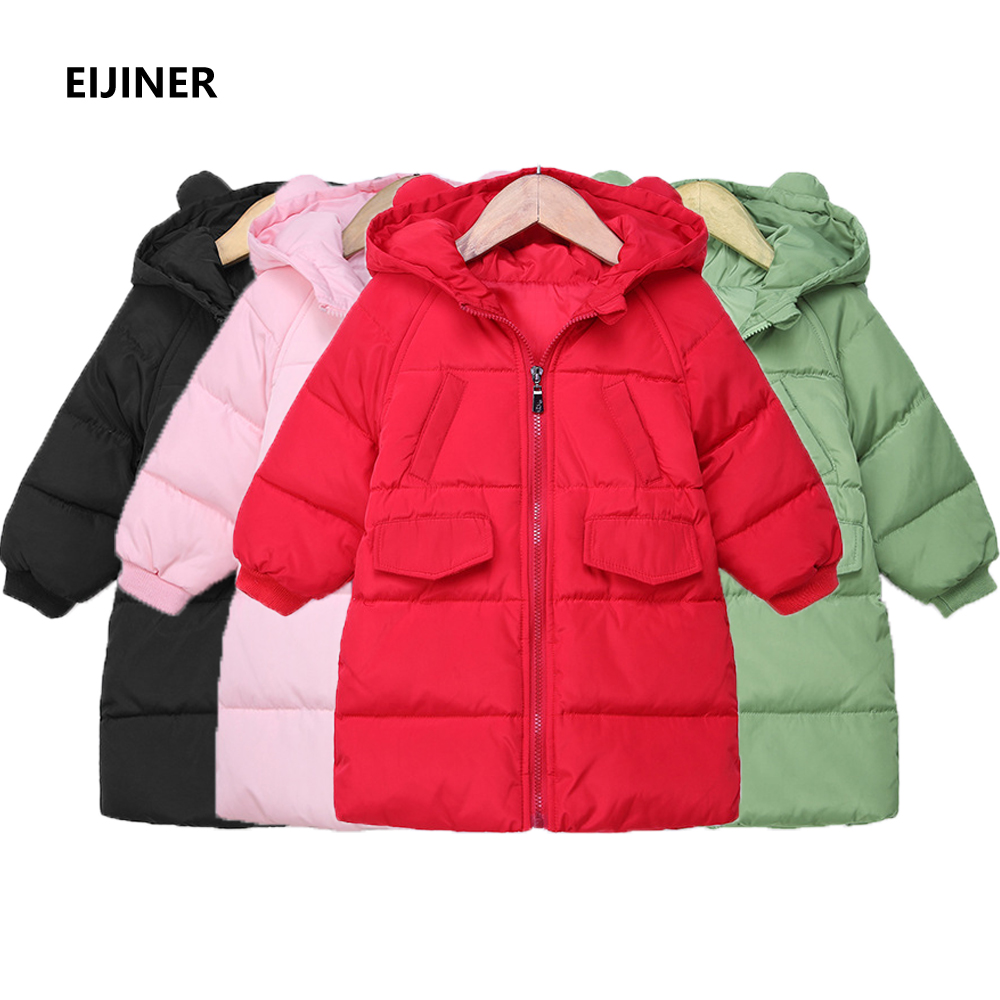 90% White Duck Down children's down jacket Winter 2018 New Kids Girl Down Jacket Coats Kids Hooded Jackets Parka Girls Outerwear 2018 girl winter jackets kids winter jacket solid long section girl duck down jacket big collar hooded children outwear jackets