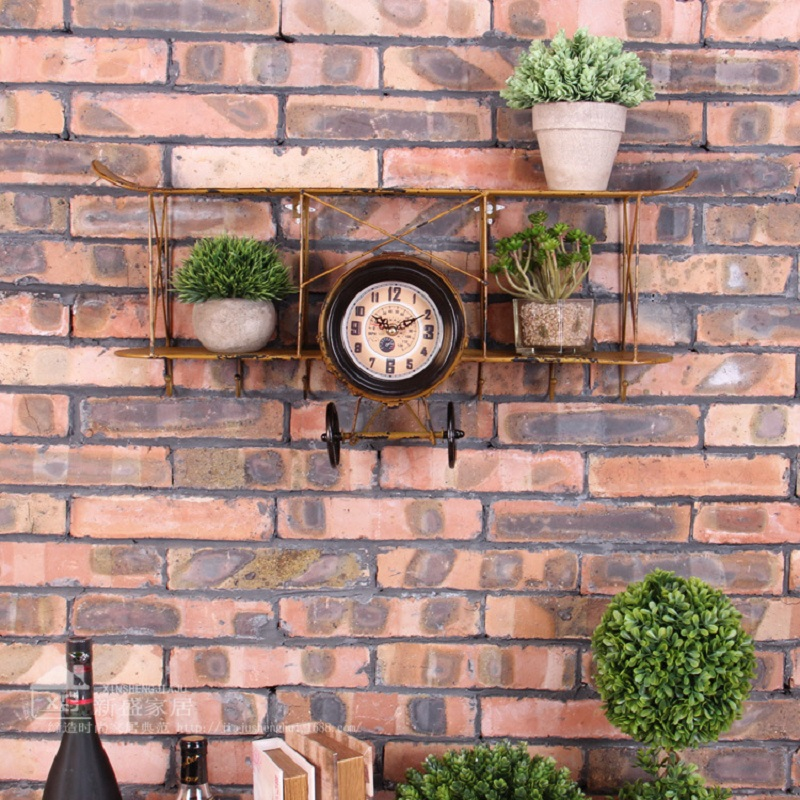 Saat Clock Shelf Storage Prateleira Wall Clock Rack Duvar Saati Klok Horloge Murale Watch Shelving hook up Iron wall decoration