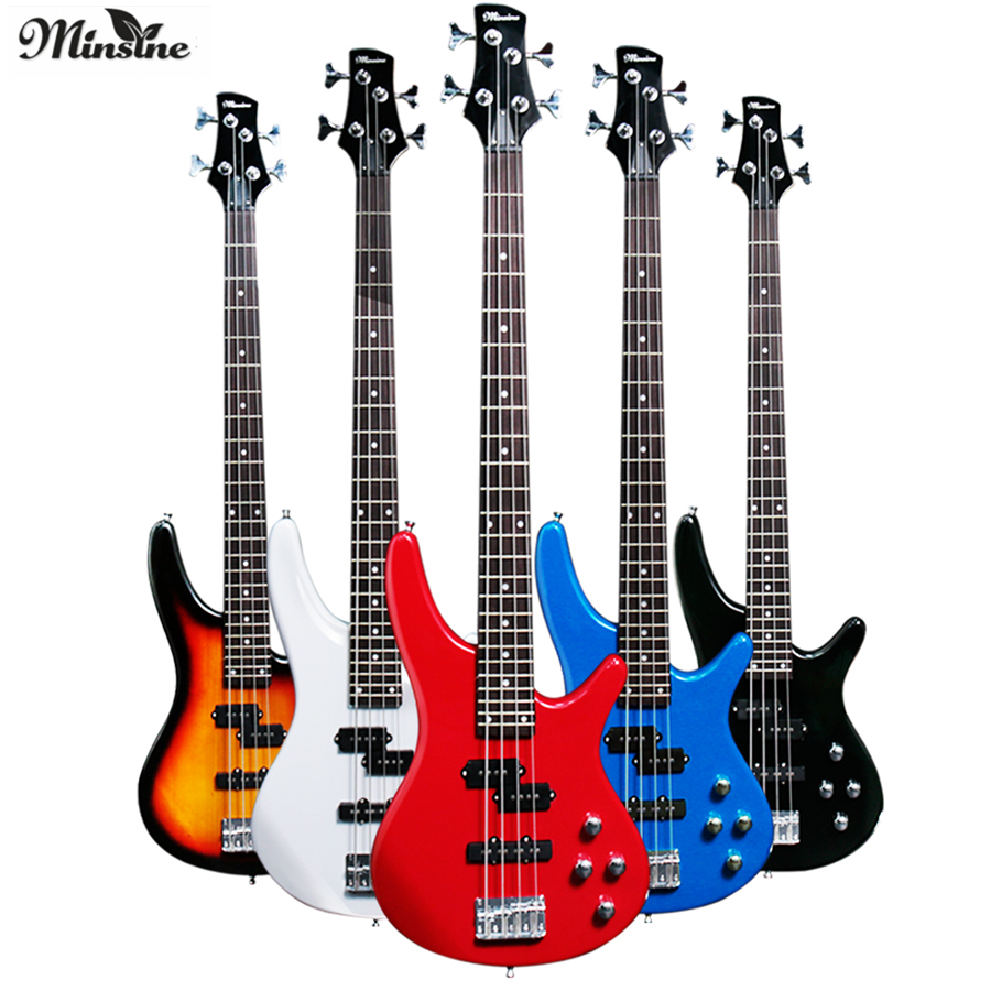 Minsine IB4 Electric Bass Guitar 4 Strings Active Pickups Metal Bass Guitar Musicman Metal Performance Bass GuitarMinsine IB4 Electric Bass Guitar 4 Strings Active Pickups Metal Bass Guitar Musicman Metal Performance Bass Guitar