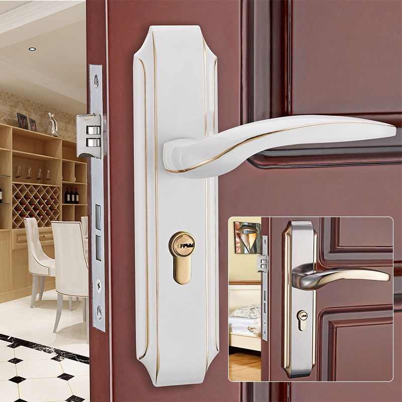 European solid wood bedroom door lock room door home hardware mechanical door lock door handleEuropean solid wood bedroom door lock room door home hardware mechanical door lock door handle