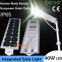 40W Superbright Motion Sensor Light Solar Panel LED Lamp IP65 Waterproof Solar Garden Lamp LED Wall