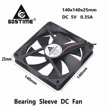 1 Piece Gdstime 14025s 140x140x25mm DC 5V USB Powered Supply PC Case Brushless Cooling Cooler Fan 140mm x 25mm 14cm