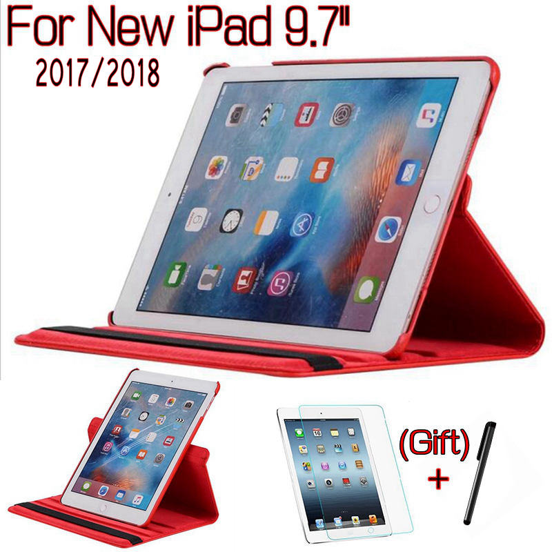 New 360 Degree Rotating Stand Smart PU Leather Case for iPad 9.7