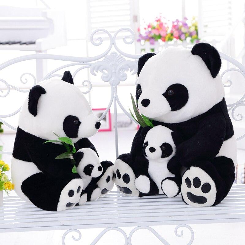 1 шт. 25 см сидя мать и ребенок панды плюшевые игрушки панда куклы мягкие подушки игрушки для детей хорошее качество бесплатная доставка