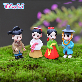Korean Boy Girl Bonsai Miniature Figurines Wedding Doll Miniatures Couple home Garden Decoration Girl toy DIY accessories gift