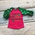 Niñas bebés de algodón boutique de St Patrick day niños little miss Shamrock raglans partido algodón raglans bebé flecha raglans