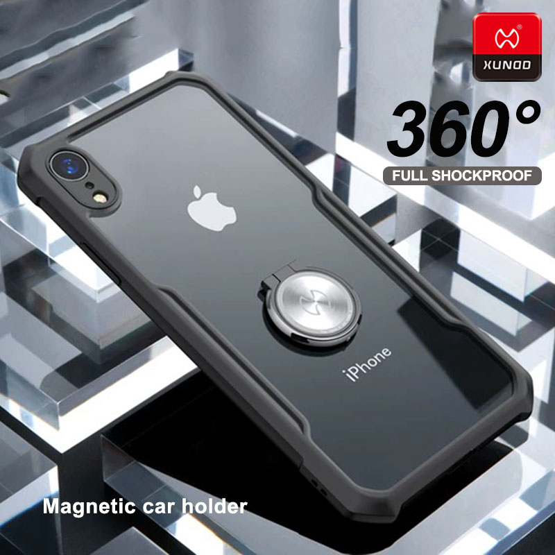Original Magnetic car holder Case For iphone x xs max xr phone Luxury Silicone Soft Shell Shockproof Protective Back Cover Cases in Fitted Cases from Cellphones Telecommunications