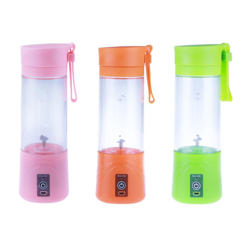 380ML Mini Portable Electric Fruit Juicer Machine USB Rechargeable Smoothie Maker Blender Shake Take Juice Slow Mini Juicer